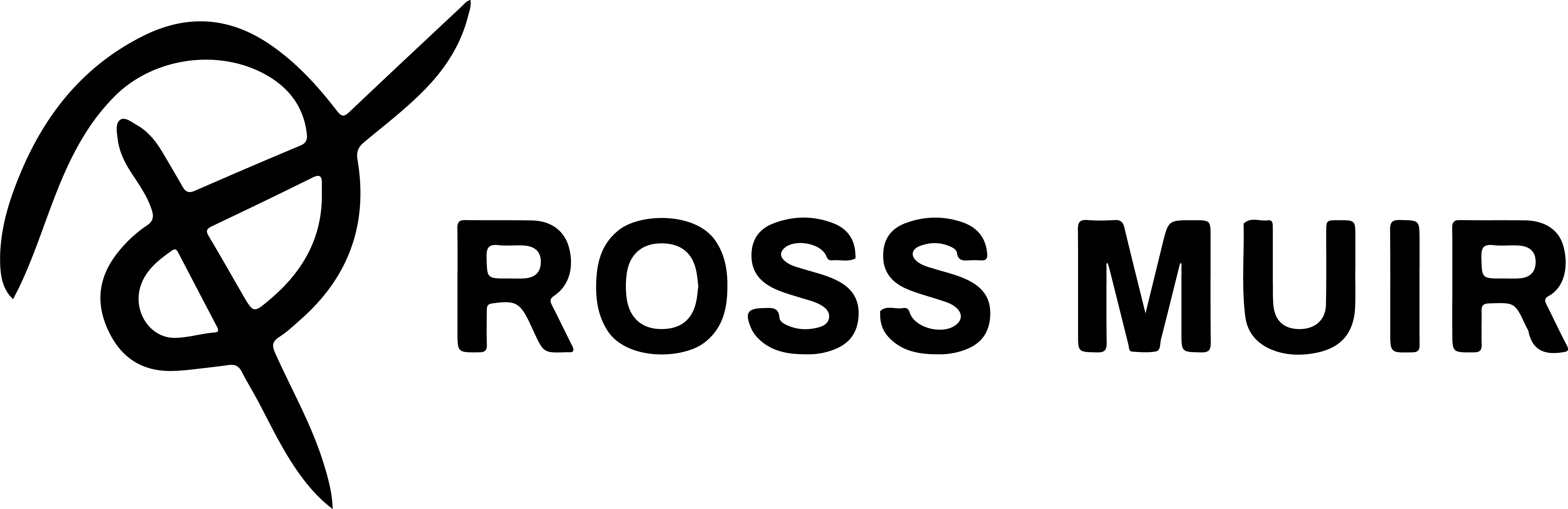 Ross Muir Logo - Black
